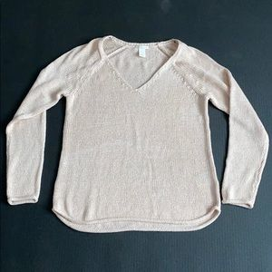H&M Pink Open Knit Sweater